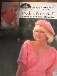 Plymouth Yarn Co-A Machine Knit Book #3   578