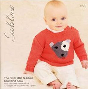 Sublime Pattern 653 The Ninth Little Sublime Handknit DK Book