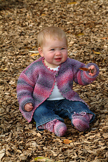 SRK 152 Simple Cardigan & Bootee
