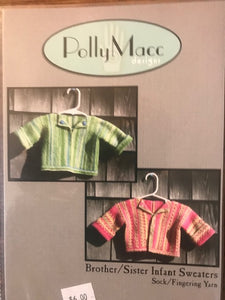 Brother/Sister Infants Sweater by Polly Macc