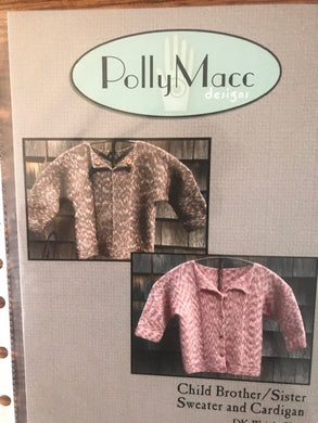 Child Brother/Sister Sweater and Cardigan by Polly Macc