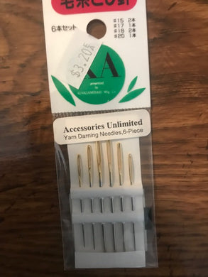 Accessories Unlimited Yarn Darning Needles 6 Pieces