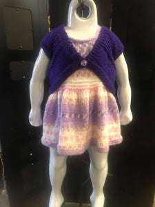 Hand Knitted Dress and Bolero   Size 12 to 24 Months