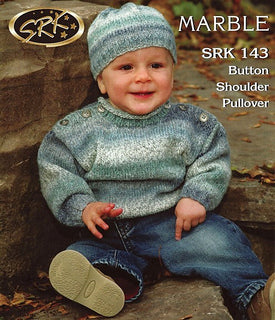 SRK 143 Button Shoulder Pullover with Hat