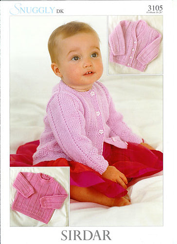 Sirdar Leaflet Cardigans and Sweater #3105