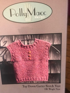 Top Down Garter Stitch Vest by Polly Macc