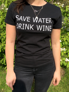 Tee-shirt « Save water drink wine »