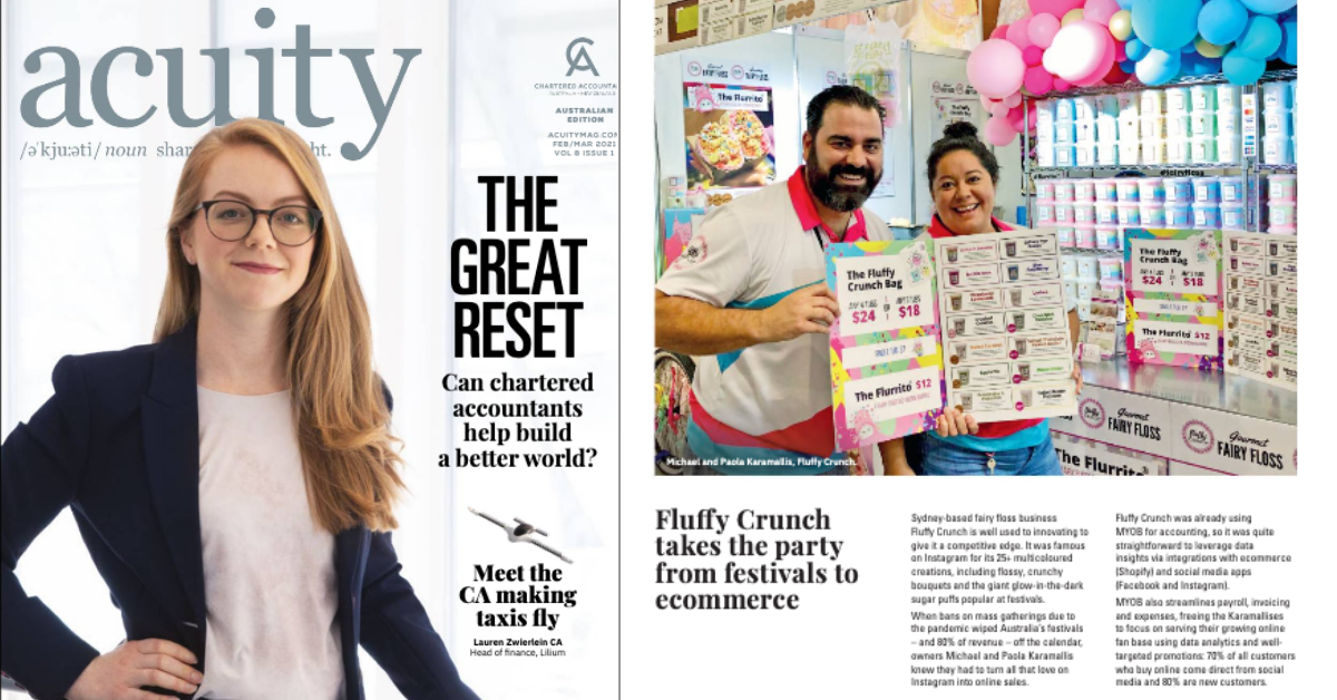 Acuity Magazine | Fluffy Crunch Fairy Floss - Pivot from Events to Ecommerce