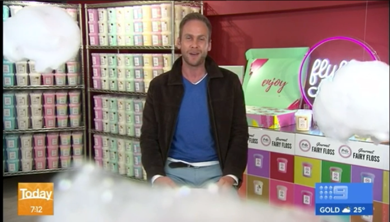 Fluffy Crunch Fairy Floss featured live on The Today Show