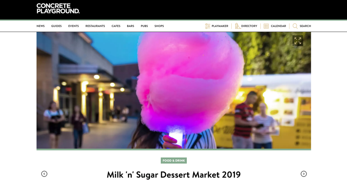 Fluffy Crunch Fairy Floss | Milk n Sugar Vivid Sydney 2019 - Concrete Playground Article