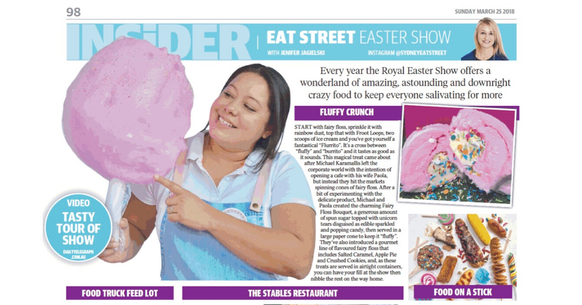Fluffy Crunch Fairy Floss Daily Telegraph Sydney Royal Show