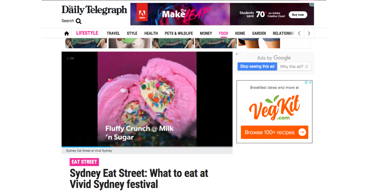 Fluffy Crunch Fairy Floss Flurrito Vivid Sydney Daily Telegraph