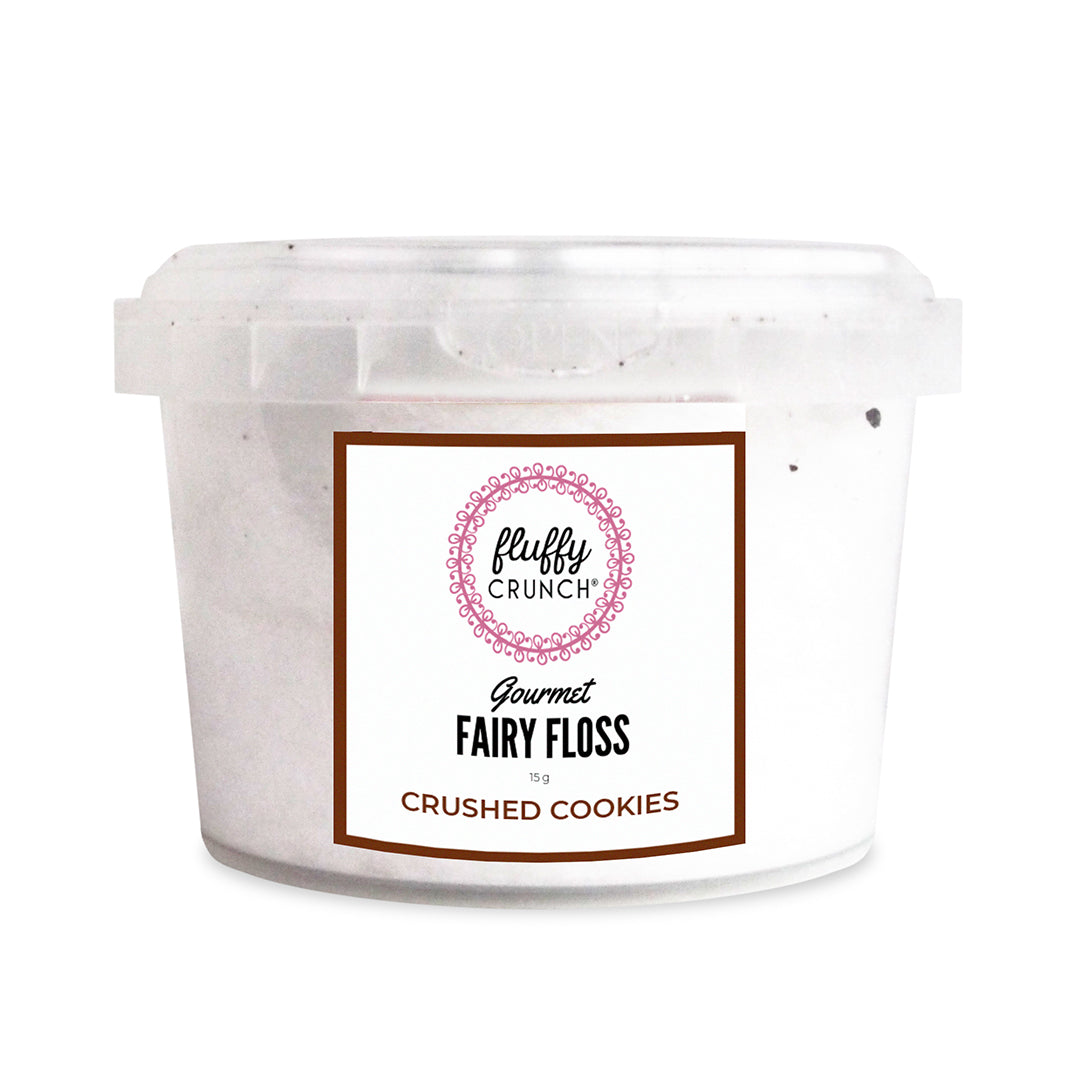 Crushed Cookies - Fluffy Crunch Fairy Floss | Party Favours - Customise and Personalise - Award Winning Flavours