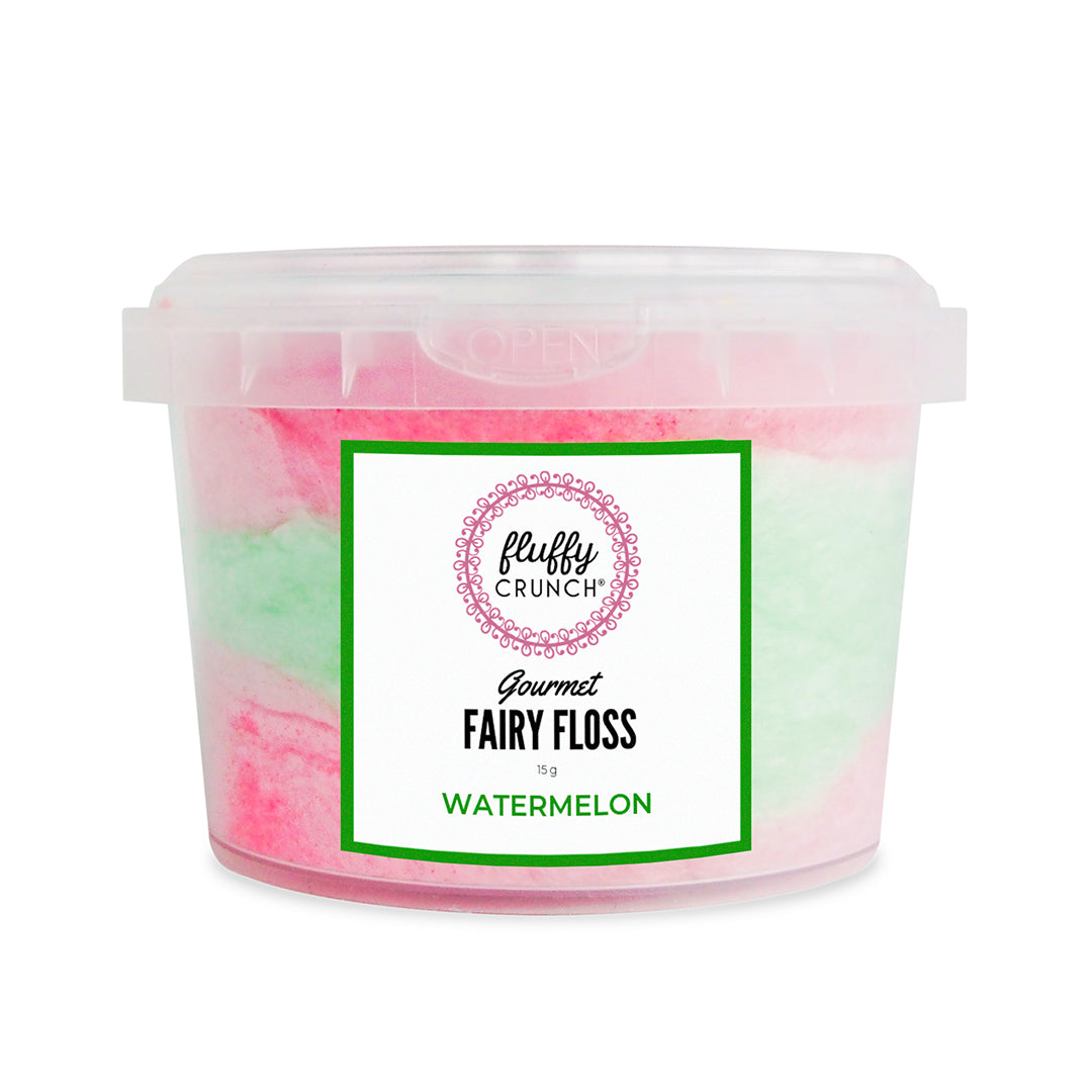 Watermelon - Fluffy Crunch Fairy Floss - Party Favours - Customise and Personalise