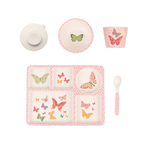 MAE-YD010 Divided Plate Set - Butterflies