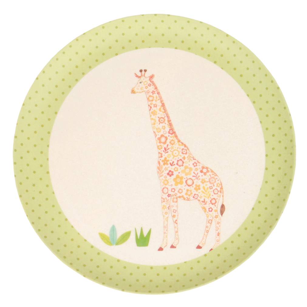 MAE-YP004 4 pk Plates - On Safari