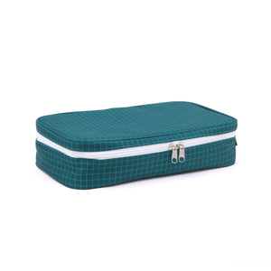 Cooler Bag with Ice Brick - Navy Grid
