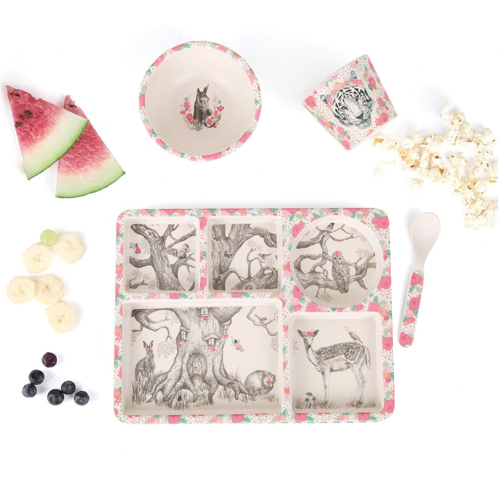 MAE-YD021 Divided Plate Set - Enchanted Forest