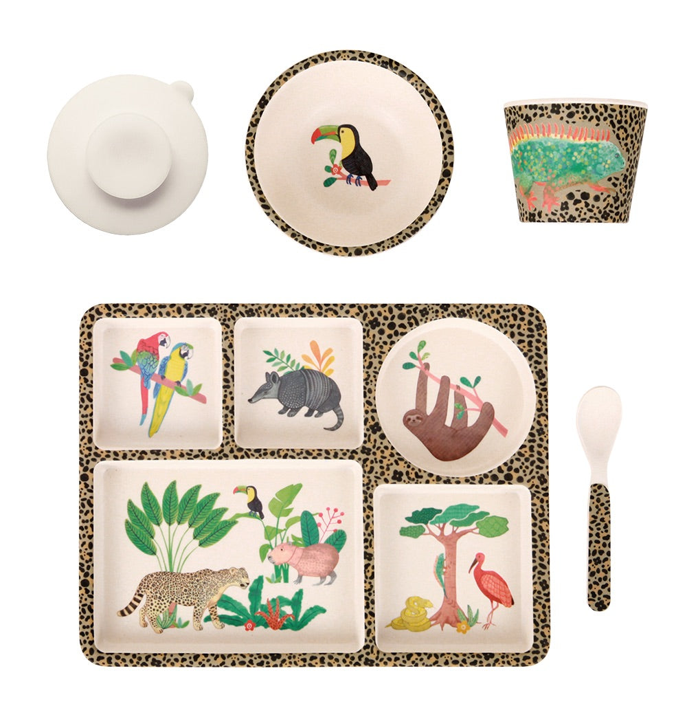 MAE-YD020 Divided Plate Set Amazon Jungle