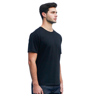 Men's Black T-shirts Short Sleeve Side View