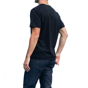 Men's Black T-shirts Short Sleeve Back View