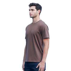 Men's Brown T-shirts Short Sleeve Side View