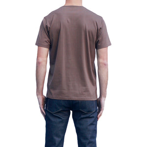 Men's Brown T-shirts Short Sleeve Back View
