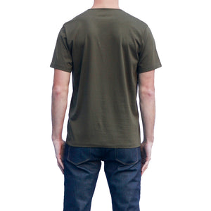 Men's Dark Green T-shirts Short Sleeve Back View
