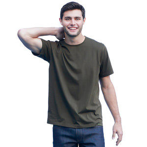 Men's Dark Green T-shirts Short Sleeve