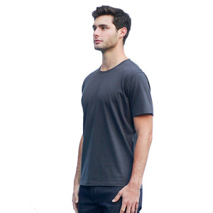 Men's Dark Gray T-shirts Short Sleeve Side View