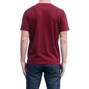 Men's Dark Red T-shirts Short Sleeve Back View