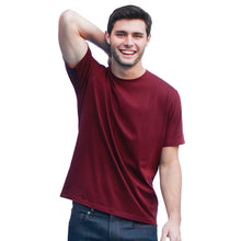 Load image into Gallery viewer, Men's Dark Red T-shirts Short Sleeve