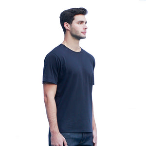 Men's Dark Navy T-shirts Short Sleeve Side View