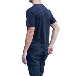 Men's Dark Navy T-shirts Short Sleeve Back View
