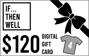 $120 Digital Gift Card Equals Cost of Four T-Shirts Shipped Anywhere in the United States