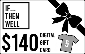 $140 Digital Gift Card Equals Cost of Three T-Shirts Shipped Anywhere in the United States