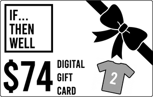 $74 Digital Gift Card Equals Cost of Two T-Shirts Shipped Anywhere in the United States
