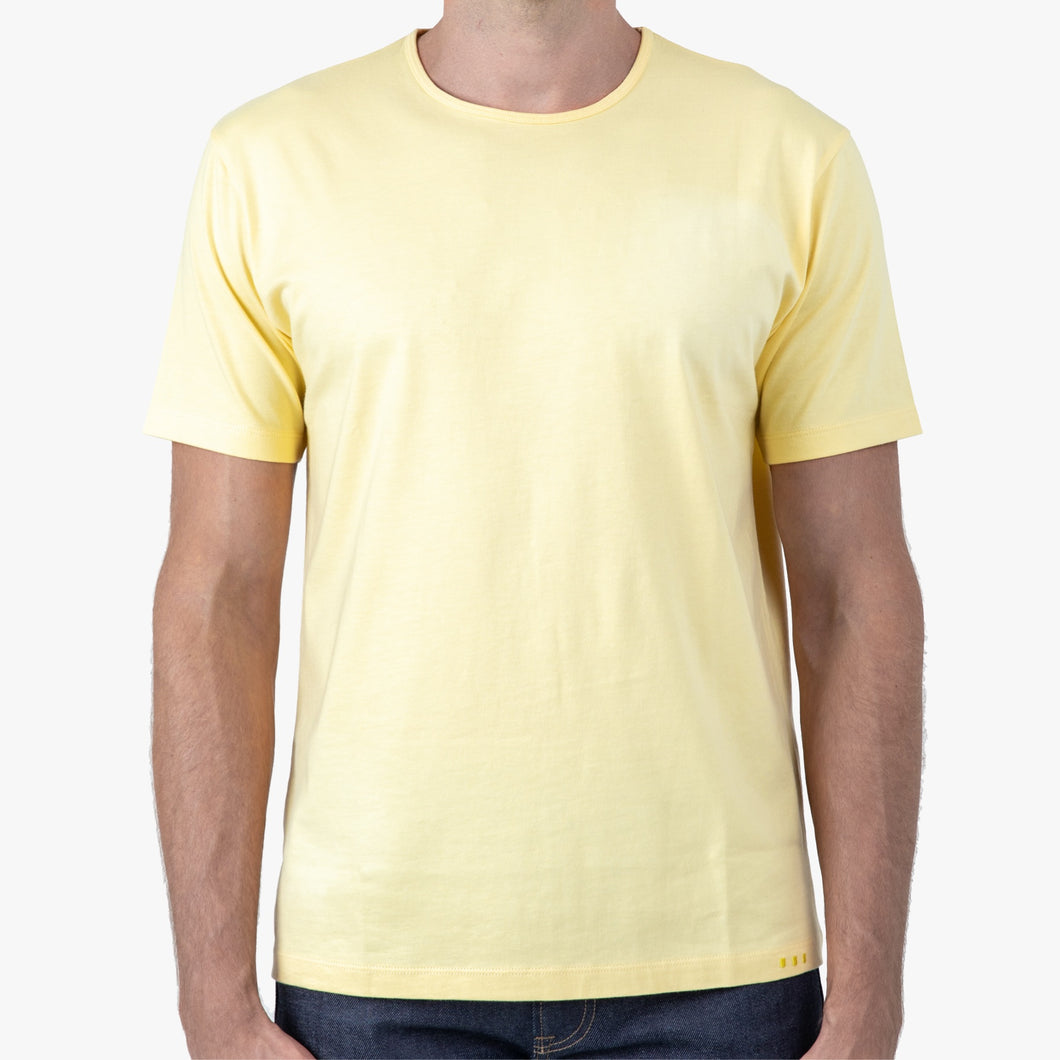 LIGHT YELLOW | Short Sleeve Classic Crew T-Shirt 100% Pima