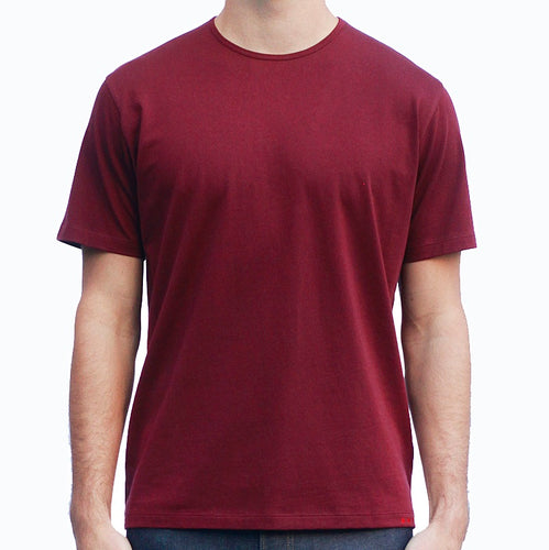 Men's Dark Red T-shirts Short Sleeve