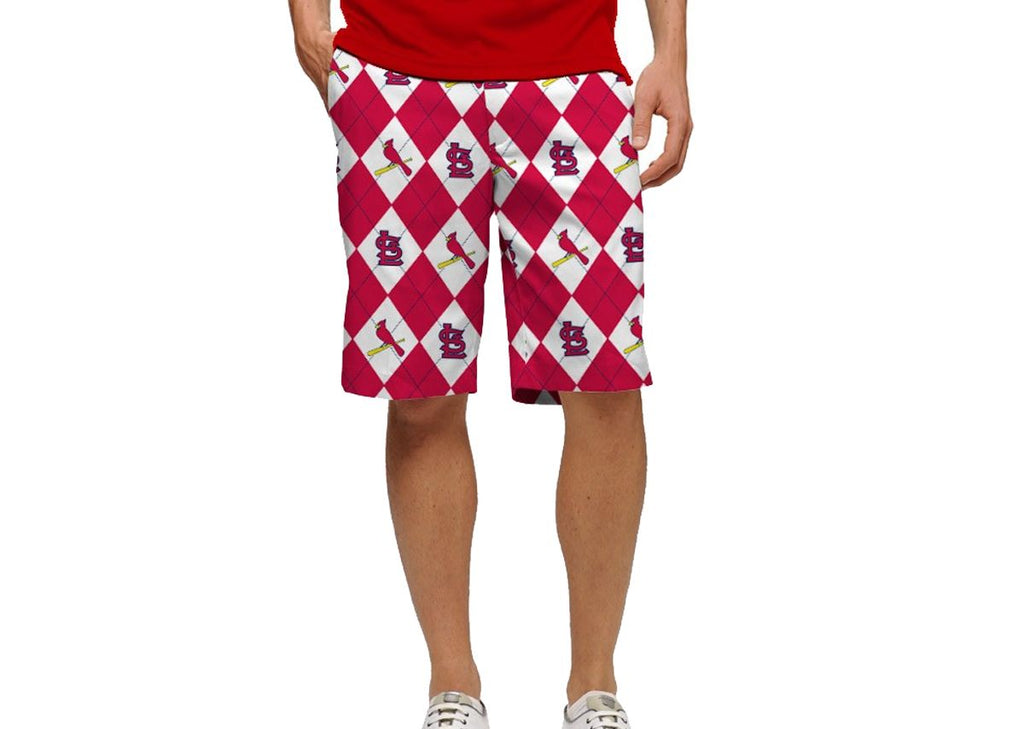 Loudmouth Golf St. Louis Cardinals Argyle Shorts