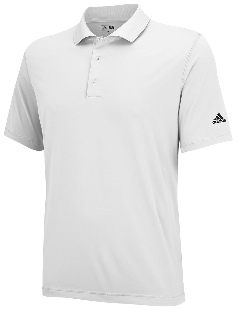 Adidas Junior's Solid Jersey Golf Polo