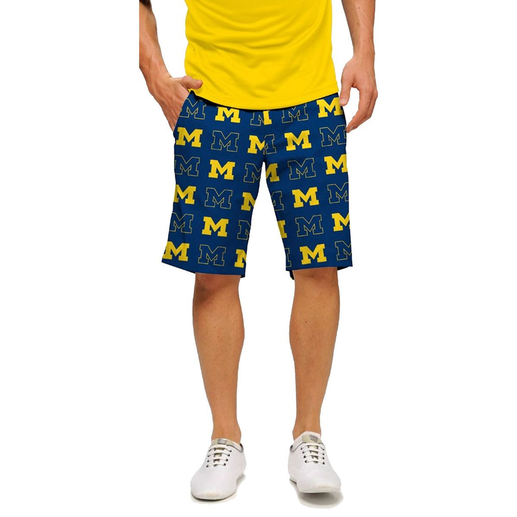 Loudmouth Golf Michigan Go Blue Shorts