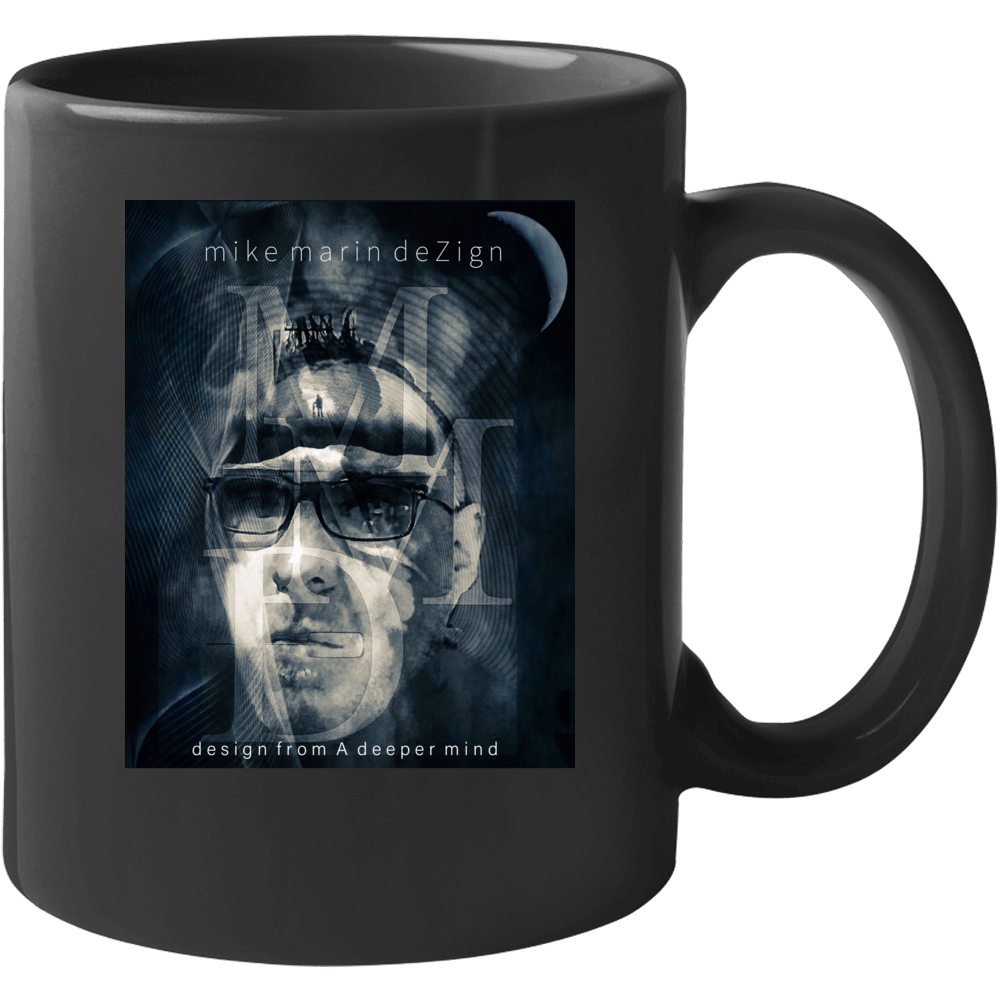 Mike Marin Dezign Logo Black Mug - SIGHT & SOUND Custom Design