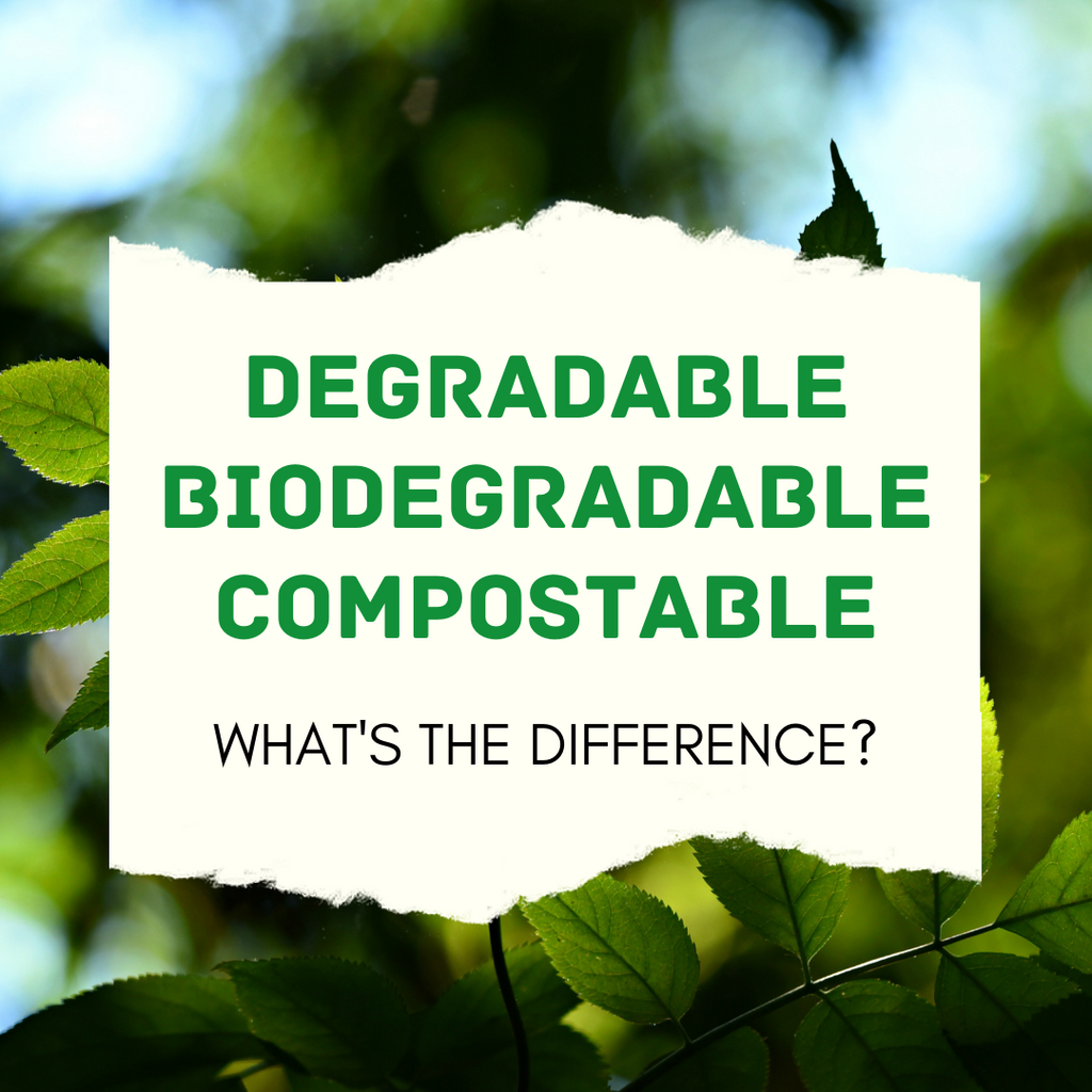 Degradable, Biodegradable, Compostable: What's the difference?