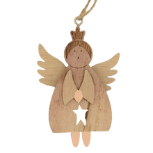 Load image into Gallery viewer, wooden christmas angel
