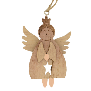 wooden christmas angel