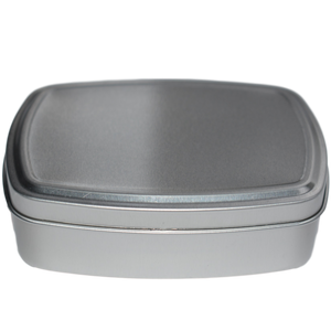 aluminium soap tin, closed