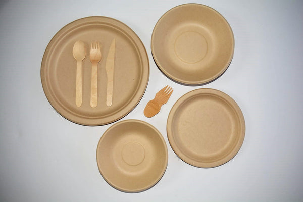 Wheat Fibre Side Plates x 10 - Green Alternatives