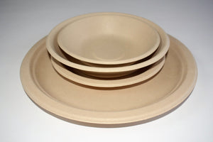 Compostable wheat fibre 350ml bowls 10 pack