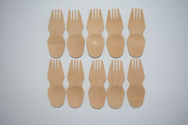 Bamboo Spork x 10 - Green Alternatives